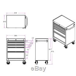Husky Rolling Cabinet Tool Chest 27 in. W 5-Drawer 4 Wheels Auto Return Ball