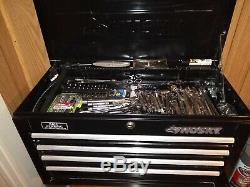 Husky Tool Chest Box used loaded with tools 26 l x 16h x 12w