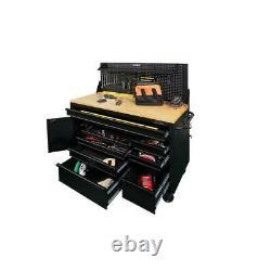 Husky Tool Chest Mobile Workbench 61 in. W 10-Drawer 1-Door Matte Black