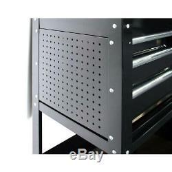 Husky Tool Utility Cart Ball Bearing Slides Lid Gas Struts Lockable Wheel Locks