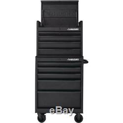 Husky Top Tool Chest Storage 26 in. W 5-Drawer Secure Open Lid Textured Black