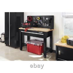 Husky Workbench Pegboard Storage 4 ft. Modern Style Solid Wood Top