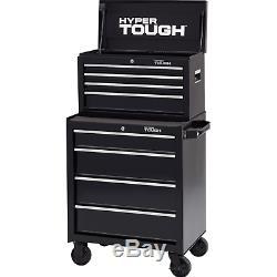Hyper Tough 4 Drawer Rolling Tool Box Storage Cabinet w Slides Ball-Bearing 26