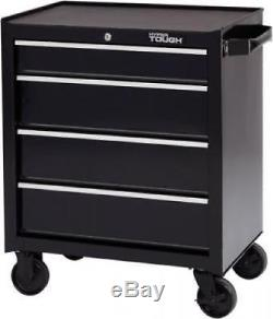 Hyper Tough 4-Drawer Rolling Tool Cabinet With Ball-Bearing Slides 26W Steel