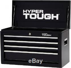 Hyper Tough 4-Drawer Tool Chest with Ball-Bearing Slides 26W Portable Durable
