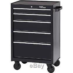 Hyper Tough 5 Drawer Rolling Tool Cabinet with Ball Bearing Slides, 26W