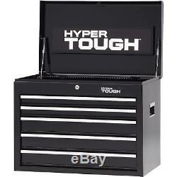 Hyper Tough 5-Drawer Tool Box with Ball-Bearing Slides, 26 W New Free Shipping
