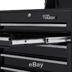 Hyper Tough 5Drawer Tool Box Storage Ball Bearing Slides Auto Chest Garage Black