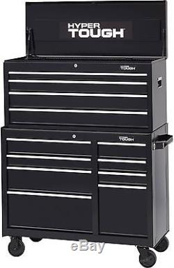 Hyper Tough 8-Drawer Rolling Tool Cabinet With Ball-Bearing Slides, 41'W Drawers