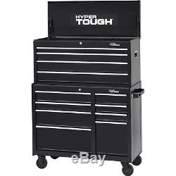 Hyper Tough 8-Drawer Rolling Tool Cabinet with Ball-Bearing Slides, 41W