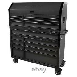 Industrial 52 in. W x 21.5 in. D 15-Drawer Tool Chest and Rolling Cabinet Combo