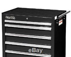 International Black 27 in. 5-Drawer Ball Bearing Slides Roller Cabinet Storage