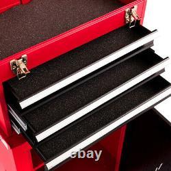 Ironmax 2pc Mini Tool Rolling Garage Toolbox Organizer Chest Storage Box Utility