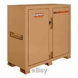 KNAACK 112 Jobmaster Jobsite Storage Cabinet/Tool Box, 60H x 60W x 30D, Tan