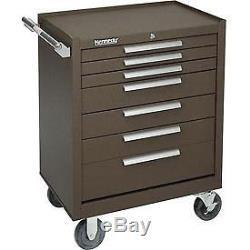 Kennedy 27 7-Drawer Roller Cabinet With Ball Bearing Slides Brown