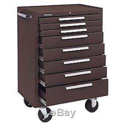 Kennedy 27 8-Drawer Roller Cabinet With Ball Bearing Slides Brown, Lot of 1