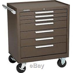 Kennedy 29 7-Drawer Roller Cabinet With Ball Bearing Slides Brown