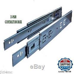Kitchen Drawer Slides Steel 22 inch Full Extension Ball Bearing 10 pair Bundle
