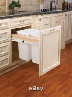Kitchen Pull Out 2 Waste Garbage Container Cabinet Trash Can Ball-Bearing Slides