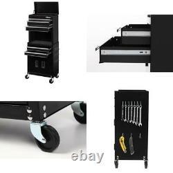 Large Garage Tool Box Rolling Workshop Storage Combo Chest Rack Drawer Cabinet