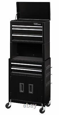 Large Garage Tool Box Workshop Storage Chest Rack Top Bottom Drawer Shop Cabinet