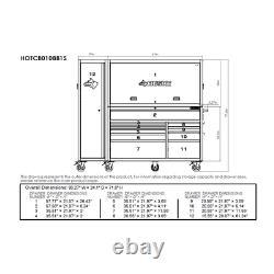 Large Heavy-Duty 80 in. Tool Chest & Rolling Cabinet, Workbench, Garage, Steel