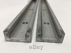Lot of 2 PBC Linear RR14-28 Redi-Rail Runner Track Slide Ball Bearing Roller 28