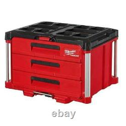 MILWAUKEE 48-22-8443 PACKOUT 3 Drawer Tool Box with 50lbs Capacity NEW