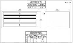 Middle Tool Chest Garage Storage Organizer Keyed Ball Bearing Slides 3-Drawer