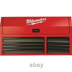 Milwaukee 46 in. 8-Drawer Steel Storage Top Chest in Red and Black