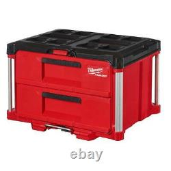 Milwaukee 48-22-8442 PACKOUT 2 Drawer Durable Tool Box with 50lbs Capacity