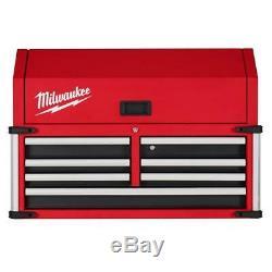 Milwaukee 7 Drawer Top Tool Chest Ball Bearing Slides High Capacity Storage 36In