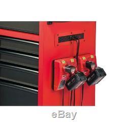 Milwaukee Bottom Tool Storage Chest 46 in. 8-Drawer Wheeled Steel Red/Black