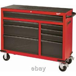 Milwaukee Cabinet Tool Chest 46 in. 8-Drawer Wheels Red Black