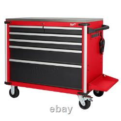 Milwaukee Mobile Workbench 40 in. W x 22.1 in. D 6-Drawer Stainless Steel Top