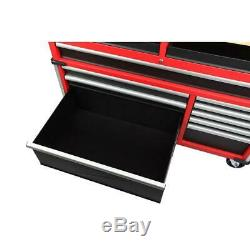 Milwaukee Mobile Workbench 52 in. 11-Drawer Clamp-Ready Wood Top Angle Iron