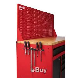 Milwaukee Mobile Workbench 61 in. 11-Drawer Sliding Pegboard Back Wall Red/Black