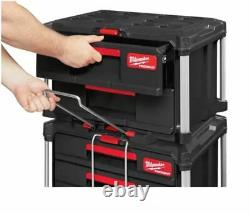 Milwaukee Packout Suitcase With 2 Drawer Tool Box Of