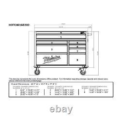 Milwaukee Roller Cabinet Tool Chest 46 in. 8-Drawer 20-Gauge Steel Keyed Lock