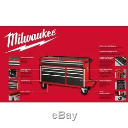 Milwaukee Roller Cabinet Tool Chest 56 in. 10-Drawers Lockable Welded Seams