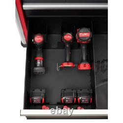 Milwaukee Steel Tool Chest 36 5-Drawer Rolling Cabinet High Capacity Red Black