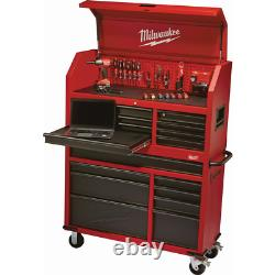 Milwaukee Tool Cabinet 8-Drawer Roller Chest in Red/Black Textured 46 in