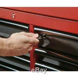 Milwaukee Tool Chest Cabinet Set Rolling 46 in. 16-Drawer Steel Red/Black