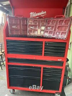 Milwaukee Tool Chest Rolling Cabinet Set 46 in. 16-Drawer More 3 Box Organizer