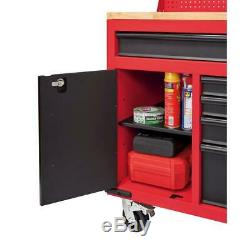 Milwaukee Tool Chest Work Bench Cabinet Pegboard Top 61in Rolling Garage Storage