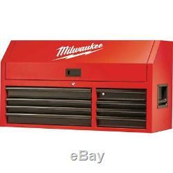 Milwaukee Tool Storage Top Chest 46 in. 8-Drawer Lockable Steel Red/Black