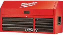 Milwaukee Top Tool Chests 46 in. W 8-Drawer Ball Bearing Slides Lid Gas Struts
