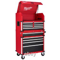 Miwaukee Tool Chest Combo 18-Gauge 12-Drawer Built-in Power Center Steel