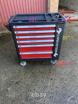Muller Kraft German 6 Draw Toolbox With Approximately 150 Pieces, Lockable