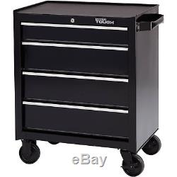 NO TAX Hyper Tough 4-Drawer Rolling Tool Cabinet with Ball-Bearing Slides 26W